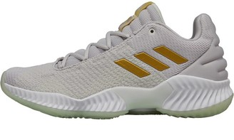 adidas Mens Pro Bounce 2018 Low Trainers Grey One/Gold Metallic/Aero Green