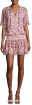 Rebecca Minkoff Pebble Floral-Print Drop-Waist Dress, Pink