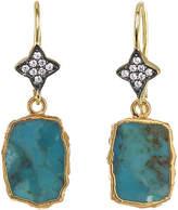 Rachel Reinhardt 14K Over Silver Turquoise Drop Earrings