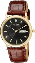 Citizen BM8242-08E Eco-Drive Leather Watch Watches