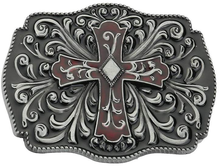 Celtic PANCY Cross Knot Belt Buckle Mens Vintage Western