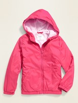 Old Navy Water-Resistant Performance Fleece-Lined Rain Jacket for Girls