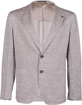 Tagliatore Grey Linen Blend Blazer