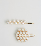 Asos Pack of 2 Occasion Faux Pearl Hair Clips