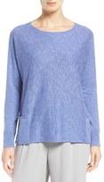 Eileen Fisher Organic Linen & Cotton Slub Knit Pullover (Regular & Petite)