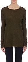 Helmut Lang Women's Frayed-Edge Sweater-DARK GREEN