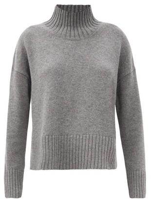 Co High-neck Wool-blend Sweater - Grey