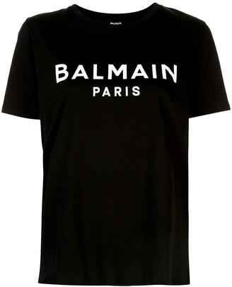 Balmain logo print short-sleeve T-shirt