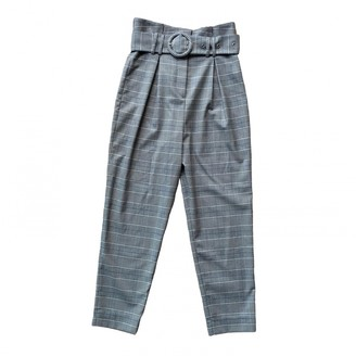 And other stories & Stories Grey Cloth Trousers for Women