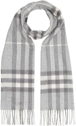 Burberry Check Pattern Fringed Scarf
