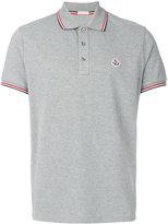 Moncler tri-tone trim polo shirt - men - Cotton - S