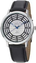 Stuhrling Original Sthrling Original Mens Gray Dial Black Leather Strap Watch