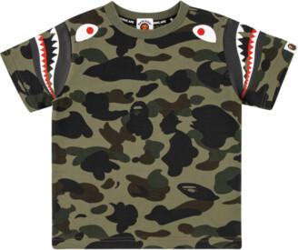 Bape 1st Camo Shark Shoulder T-shirt - 9