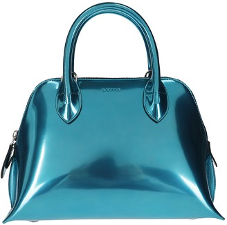 Lanvin Electric Blue Leather Magot Tote Bag