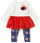 Starting Out Baby Girls 12-24 Months Peplum Tunic & Floral Printed Leggings Set