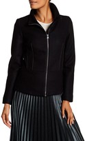 Desigual Stand Up Collar With Zip Closure Blazer