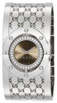 Gucci Twirl 0.51 TCW Diamond & Stainless Steel Logo Bracelet Watch