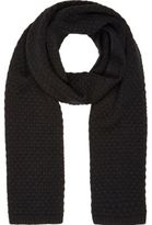 River Island Black Honeycomb Knit Scarf