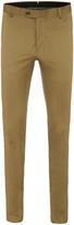 Oxford Slim Leg Cotton Trousers Blue X