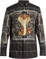 Givenchy Cobra and geometric-print cotton shirt