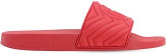 Gucci Embossed Logo Rubber Slide Sandals