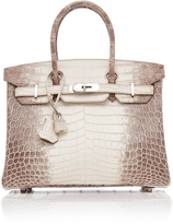 Heritage Auctions Special Collection Hermes 30Cm White Himalayan Matte Nilo Crocodile Birkin