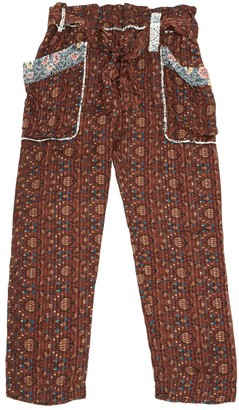Isabel Marant Brown Silk Trousers