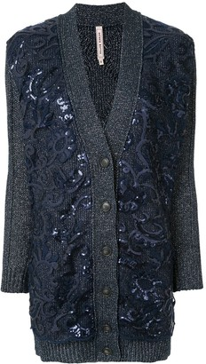 Antonio Marras Sequinned-Floral Cardi-Coat