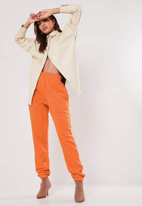 Missguided Tall Orange Basic Joggers