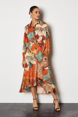 70's Floral Shirt Dress