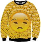 ABCHIC Girl's Printed Emoji Sweatshirt Crewneck Pullover Long Sleeve Slim Fit