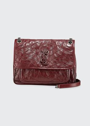 Saint Laurent Niki Medium Monogram Shiny Waxy Quilted Shoulder Bag