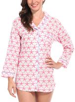 Malabar Bay Pink Starfish Organic Cotton Sleep Shirt