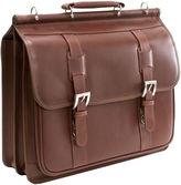 McKlein McKleinUSA Signorini 15.4 Leather Double Compartment Laptop Briefcase