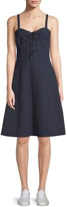 Ralph Lauren Linen Lace-Up Dress