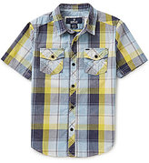 Buffalo David Bitton Big Boys 8-20 Sarlo Plaid Short-Sleeve Shirt
