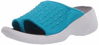 BZees Washable Womens Jellybean Bright Blue Thongs 7.5 W