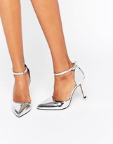 True Decadence Ankle Strap Point Heeled Shoes
