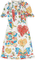 Gucci Corsage print cotton dress