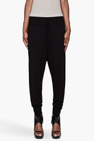 Rick Owens Black merino wool basic Jogging Pants