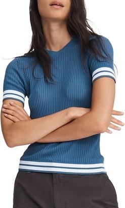 Rag & Bone Arctic Ribbed Cotton T-Shirt