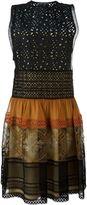 Alberta Ferretti paneled dress