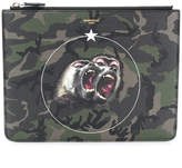 Givenchy Monkey Brothers camouflage clutch