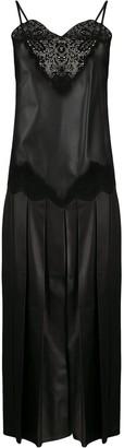Fendi cami-style leather dress