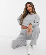 Asos Design DESIGN tracksuit supersoft rib hoodie / rib flare pants
