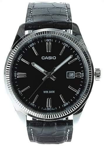 Casio Men's Core MTP1302L-1AV Leather Quartz Watch with Dial