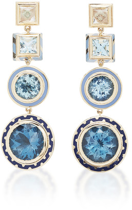 Alice Cicolini Candy Lacquer Blue Chandelier Earrings