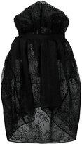 Maison Margiela full asymmetric lace skirt - women - Polyamide/Viscose - 40