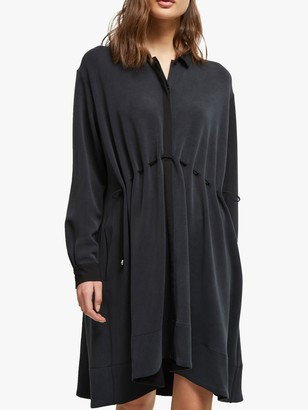 French Connection Ren Cupro Dress, Black