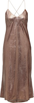 Mason by Michelle Mason Open-back Tinsel Midi Dress